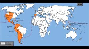 Spain Map World by Map Of Spanish Empire 1492 1977 Youtube