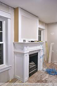 How To Build Fireplace Mantel Shelf - how to build a quick and easy fireplace overmantel living rooms