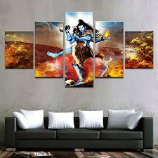 Tibetan Home Decor Modular Painting Canvas Wall Art Pictures 5 Piece India Tibetan