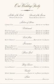 sle wedding programs templates free sle birthday party program template impremedia net