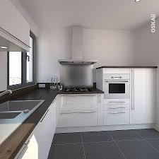 cuisine blanche moderne hotte sous meuble cuisine blanche et bois moderne et