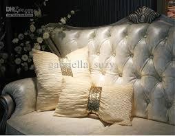 Sofa Cover Online Buy 178 Europe Luxurious Cream Ruffer Sequin Belt Pillow Cushion Cover