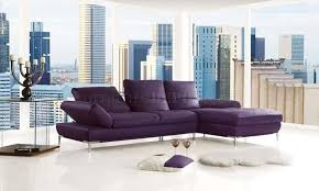 adjustable back sectional sofa purple top grain leather modern sectional sofa w adjustable back