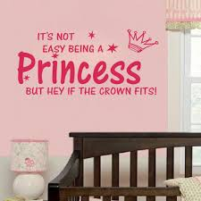 compare prices on wall sticker quotes princess online shopping hot selling style pink quote not easy being a princess girl wall sticker vinyl home decal