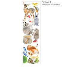 woodland nursery wall stickers animals and tree set by chocovenyl woodland nursery wall stickers animals and tree set option 1 with raccoon