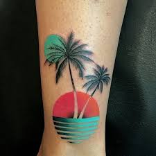 best 25 tropical ideas on palm tree tattoos