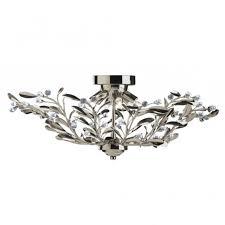 Searchlight Ceiling Lights Searchlight 5256 6ab Lima 6 Light Antique Brass Semi Flush
