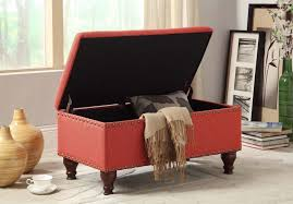 Fabric Storage Ottoman by Fabric Storage Bench Bedroom Ottoman Linen Upholstered Chest Foyer