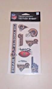 nfl 1 sheet 7 temporary tattoos los angeles rams free shipping ebay