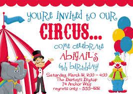 circus invitations birthday cimvitation