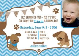 3 Perfect Ideas To Create Puppy Birthday Invitations Badbrya Com