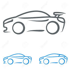 cartoon sports car black and white sports car royalty free cliparts vectors and stock illustration