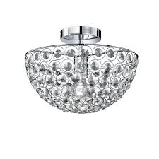 Contemporary Ceiling Lights by Contemporary Ceiling Light Round Crystal Led Holly 1lmp