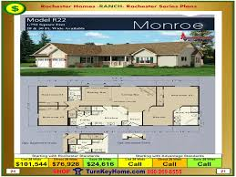 House Building Plans And Prices by Monroe Rochester Modular Home Model R22 Plan Price