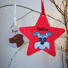 dog personalised christmas tree decoration by hoobynoo