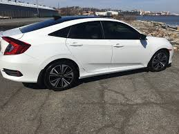 finally my 2016 honda civic ex t white mod 2016 honda civic