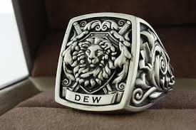 crafted mens ring signet ring cool ring by 3dheraldry