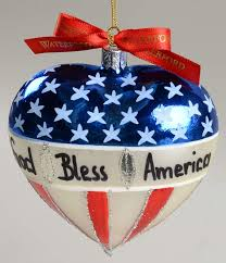 heirloom ornaments god bless america boxed by