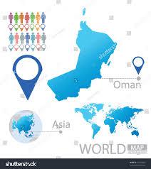 World Map Vector Sultanate Oman Asia World Map Vector Stock Vector 151723961