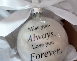 husband memorial gift remembrance ornament as as i