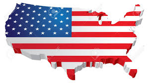 Us Map Image A 3d Us Map With Flag Of The United States Of America Royalty Free