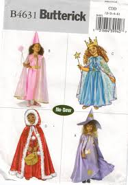 butterick halloween costumes butterick pattern 4631 no sew costumes for girls princess fairy