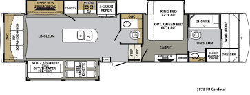 forest river cardinal floor plans fifth wheel forest rv dealer cardinal 3875fb floorplan