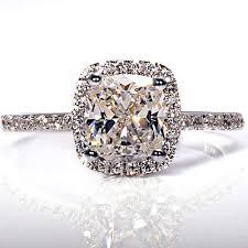 platinum sterling rings images Platinum cubic zirconia engagement rings 19 ct cushion cut womens jpg