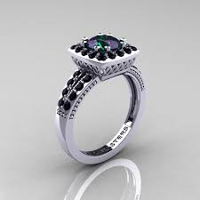 chagne diamond engagement ring classic 14k white gold 1 20 carat alexandrite black diamond