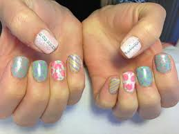 funky vintage nail art gelish and gelcolor chic nail styles