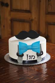 mustache birthday cake suspenders and blue bow tie baby shower cake with mustache topper