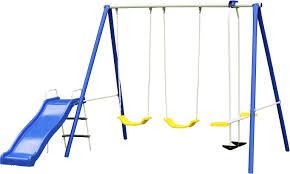 Flexible Flyer Lawn Swing Frame by Fingerhut Flexible Flyer Winning Fun Swing Set