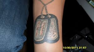 dog tag tattoo by mjmtattoos on deviantart tattoomagz