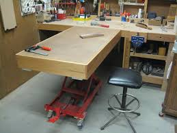 motorcycle lift table plans assembly table hydraulic lift by robsshop lumberjocks com