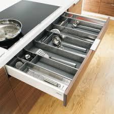 tiroir de cuisine range couverts pour cuisine en bois plastique ou inox i