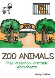 zoo activities for preschoolers zoo activities learning