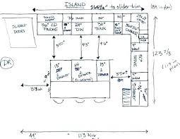 standard kitchen island size standard dishwasher depth riopower with regard to kitchen island