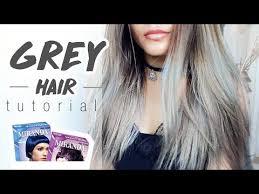 gambar tutorial ombre rambut grey silver hair tutorial cat miranda bahasa indonesia sub