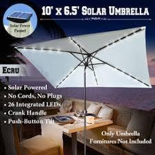 rectangular umbrella with solar lighted