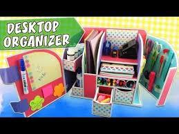 Back To School Desk Organization Desktop Organizer Cardboard Back To School Apasos Crafts Diy