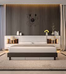 Artistic Features Bedroom Artistic Bedroom Accent Walls That Use Slats To Look