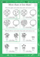 more than or less than math practice worksheet grade 1