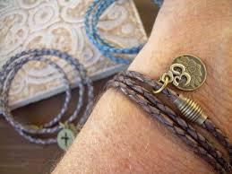 cross bracelet leather images Leather bracelet leather wrap charm bracelet womens om bracelet jpg