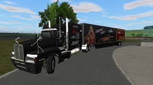 kenworth truck and trailer race hauler skins for kenworth t600 and 176t trailer rigs of