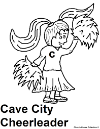 cheerleader coloring page cool little learn to be a