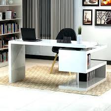 sleek desk sleek white desk sleek top part modern white desk facing black chair