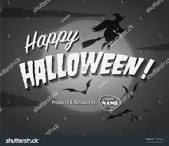 happy halloween image movie ending screen happy halloween vector stock vector 113059420