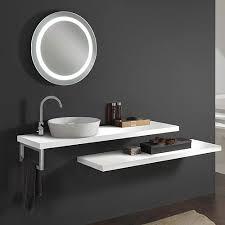 mensola lavabo da appoggio piano lavabo top in legno 130 profondità 38