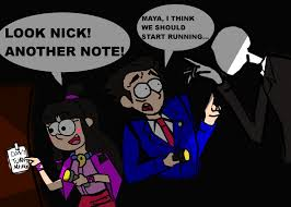 Slender Meme - phoenix and maya play slender slender man know your meme