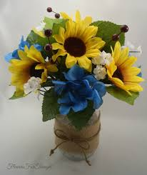 sunflower table arrangement wedding reception silk flower